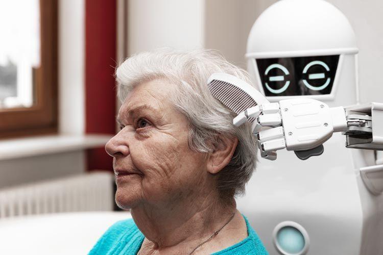 Arriva il badante robot che si prende cura degli anziani